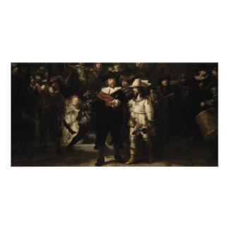 El guardia nocturna de Rembrandt Van Rijn Tarjetas Fotográficas Personalizadas
