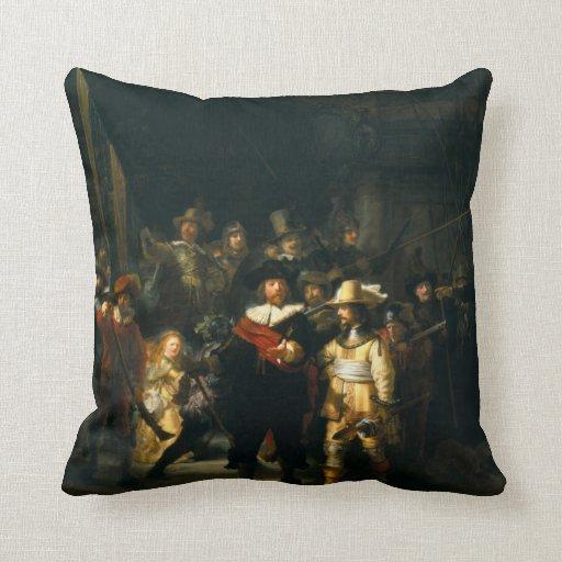 El guardia nocturna - Rembrandt Cojin