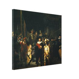 El guardia nocturna - Rembrandt Lona Envuelta Para Galerias