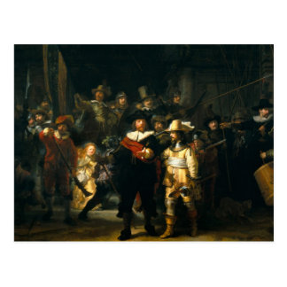 El guardia nocturna - Rembrandt Postal
