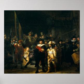 El guardia nocturna - Rembrandt Póster