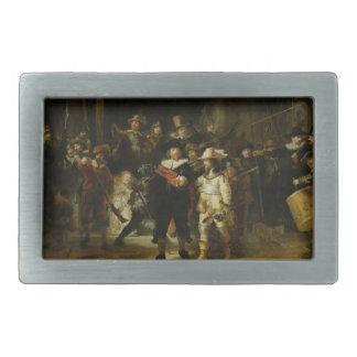 El guardia nocturna, Rembrandt Van Rijn Hebilla De Cinturon Rectangular
