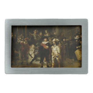 El guardia nocturna, Rembrandt Van Rijn Hebillas Cinturón Rectangulares