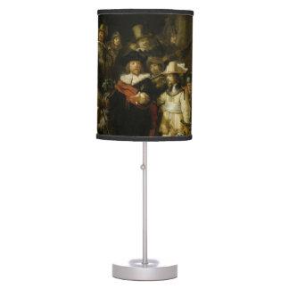El guardia nocturna, Rembrandt Van Rijn Lámpara De Mesilla De Noche