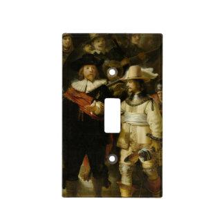 El guardia nocturna, Rembrandt Van Rijn Placa Para Interruptor