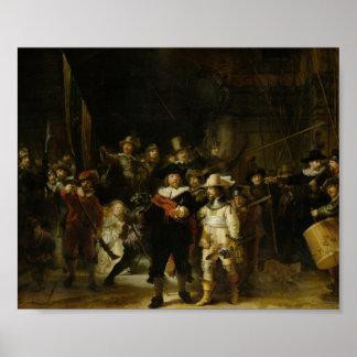El guardia nocturna - Rembrandt Van Rijn Póster