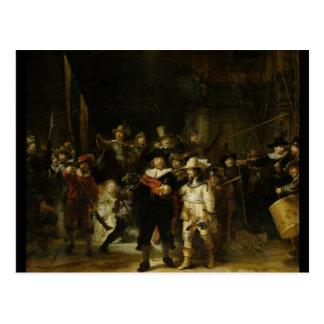 El guardia nocturna, Rembrandt Van Rijn Tarjetas Postales