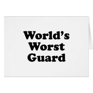 El guardia peor del mundo tarjeta de felicitación