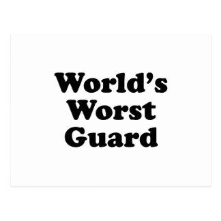 El guardia peor del mundo tarjetas postales