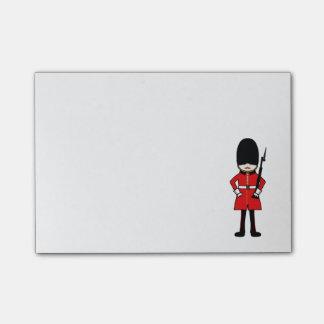 El guardia real de la reina nota post-it