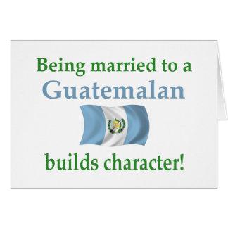 El guatemalteco construye el carácter felicitación