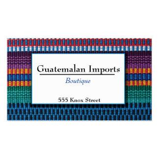 El guatemalteco importa el boutique tarjetas de visita