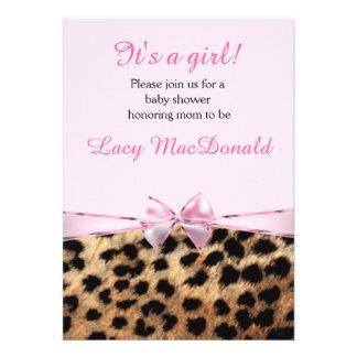El guepardo del leopardo del arco del rosa de los anuncios personalizados