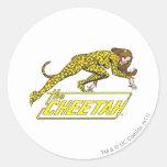 El guepardo etiquetas redondas