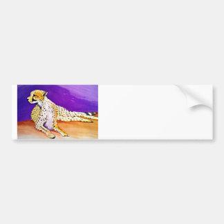El guepardo majestuoso (arte de Kimberly Turnbull) Pegatina Para Auto