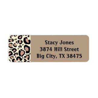 El guepardo mancha etiquetas de dirección