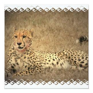 El guepardo mancha invitaciones invitación 13,3 cm x 13,3cm