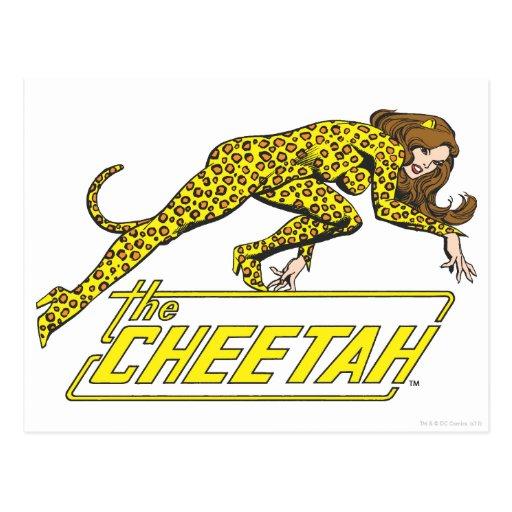 El guepardo tarjetas postales