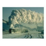 El guerrero cruza el paisaje hivernal con un l com postal