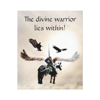El guerrero dentro impresiones en lienzo estiradas
