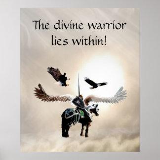 El guerrero dentro póster