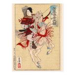 El guerrero femenino Hangaku Tarjeta Postal