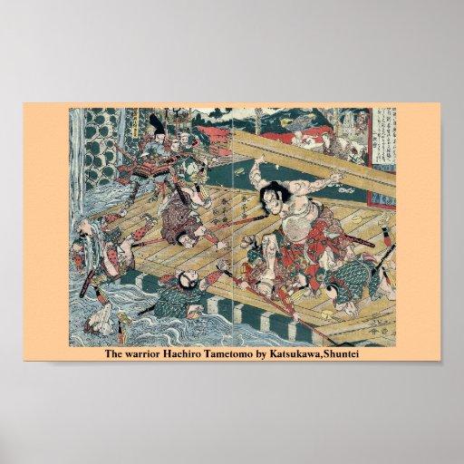 El guerrero Hachiro Tametomo por Katsukawa, Shunte Poster