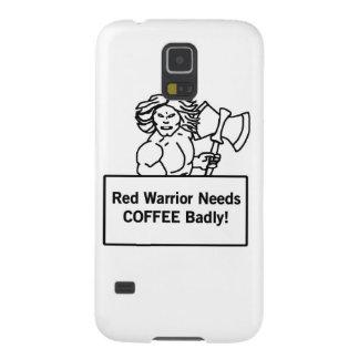 el guerrero rojo necesita el café gravemente carcasa galaxy s5