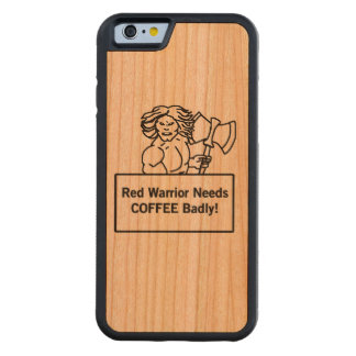 el guerrero rojo necesita el café gravemente funda de iPhone 6 bumper cerezo