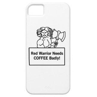 el guerrero rojo necesita el café gravemente funda para iPhone 5 barely there