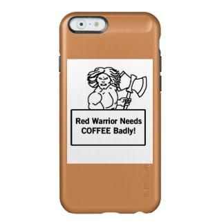 el guerrero rojo necesita el café gravemente funda para iPhone 6 plus incipio feather shine