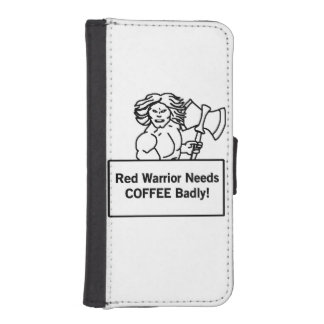el guerrero rojo necesita el café gravemente fundas billetera para teléfono