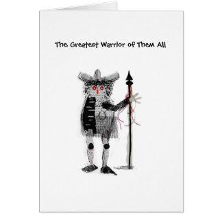 El guerrero tarjeta pequeña