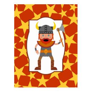 El guerrero valiente de vikingo postal
