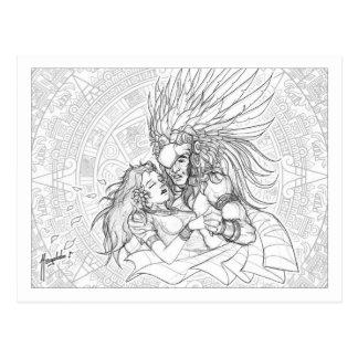 El guerrero y la princesa postales