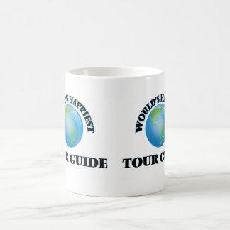 El guía turístico más feliz del mundo taza básica blanca
