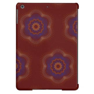El guilloquis pescó los modelos rojo oscuro funda para iPad air