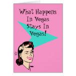 El guiño retro de la diversión de Las Vegas carda  Felicitacion