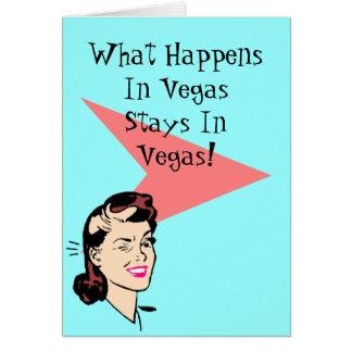 El guiño retro de la diversión de Las Vegas carda  Tarjeta Pequeña
