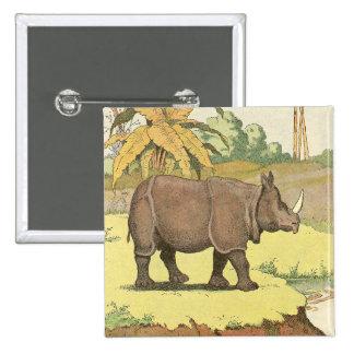 El guión del rinoceronte pin