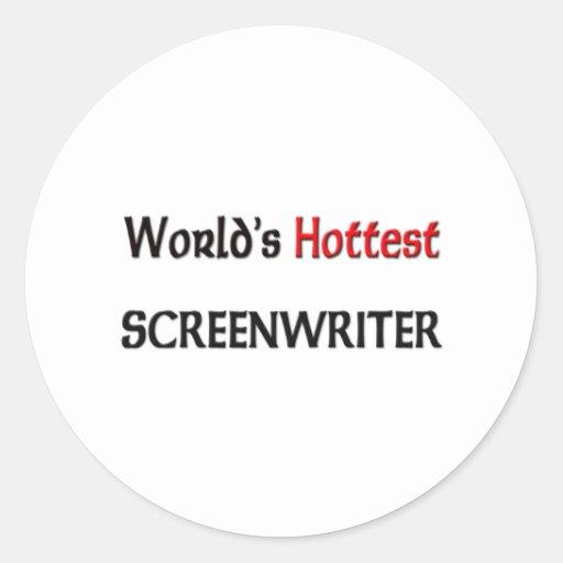 El guionista más caliente de los mundos pegatinas redondas