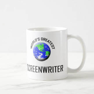 El guionista más grande del mundo taza básica blanca