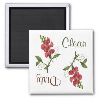 El guisante de olor florece el imán del lavaplatos