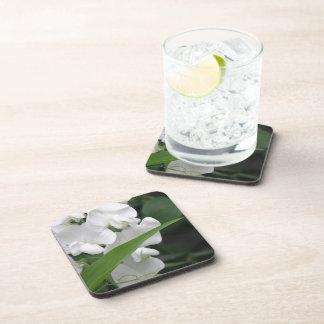 El guisante de olor florece los prácticos de costa posavasos de bebida