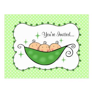 El guisante en mi postal de la fiesta de bienvenid