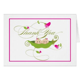 El guisante gemelo de los chicas en una vaina el | tarjeta pequeña