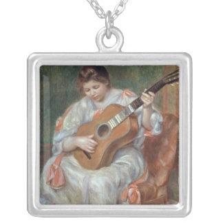 El guitarrista, 1897 colgante cuadrado