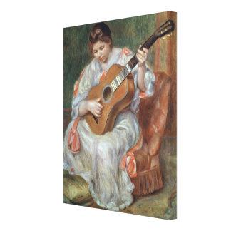 El guitarrista, 1897 impresion de lienzo