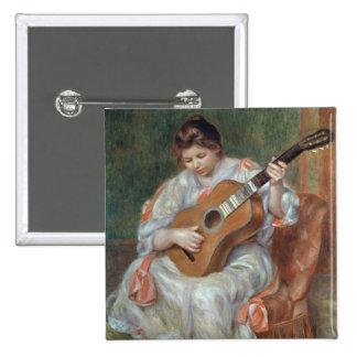 El guitarrista, 1897 pin cuadrado