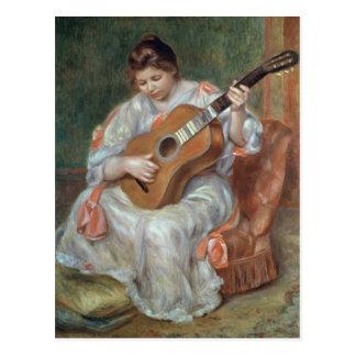 El guitarrista, 1897 tarjeta postal